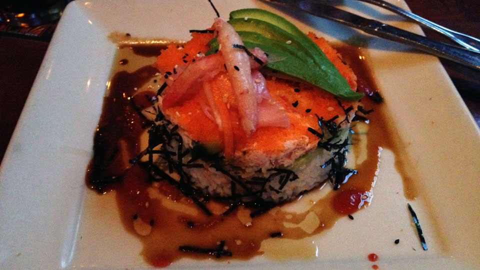 Srednalf where s is red and half for California roll house
